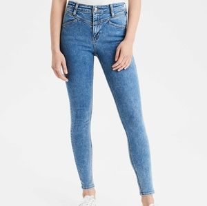 AEO super high rise jeggings x long 6
